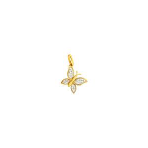 Diamond butterfly 14k yellow gold