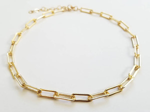 Gold Filled Elongated Choker Necklace