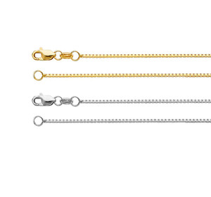 Box Chain Necklace 14K Gold