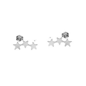 Three Star Stud Earrings