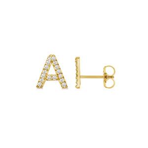 Diamond Initial Stud Earring