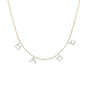 Diamond Space Letter Necklace