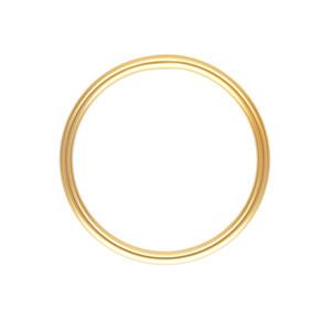 Plain Stacking Ring, Thin Wedding Band 14K Yellow Gold