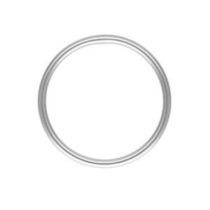 Plain Stacking Ring 14K White Gold