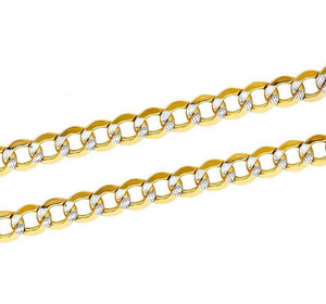 14K Yellow Gold Cuban WP Chain Necklace With Lobster Clasp
