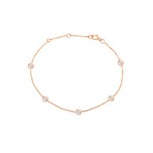 Diamond by the Yard Bracelet 14K Rose Gold