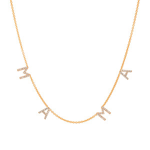Diamond Space Mama Necklace