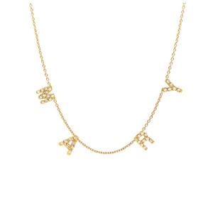 Mini Diamond Initial Spaced Necklace