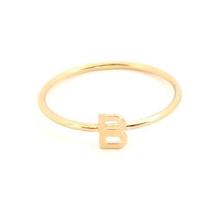 Initial Ring 14K Gold