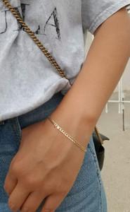 Bezel Diamond Cuban Link Bracelet 14K Gold