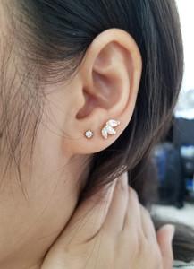 Trio Marquise Diamond Stud Earring 14K Gold