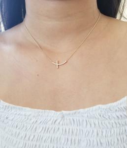 Diamond Cross Necklace 14K Gold