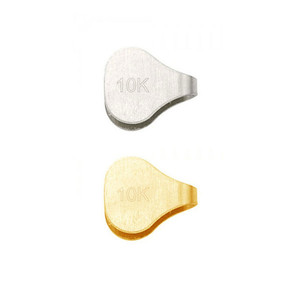 10K Gold Flat End Cap For Chain