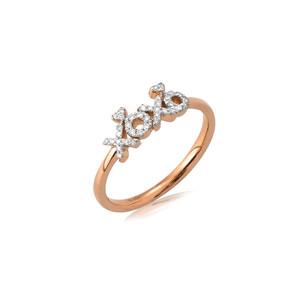 XOXO Heart Diamond Ring 14K Gold