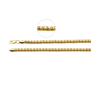 Hollow Wheat Chain Necklace 14K Yellow Gold