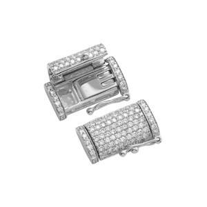 10K Gold Diamond Safety Lock For Necklace and Bracelet