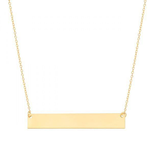 Engraved Bar Necklace 14k Gold Filled