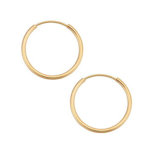 Endless Hoop Earrings 14K Yellow Gold
