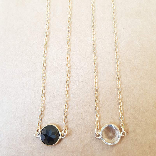 Single Stone Necklace in 14K Yellow Gold
