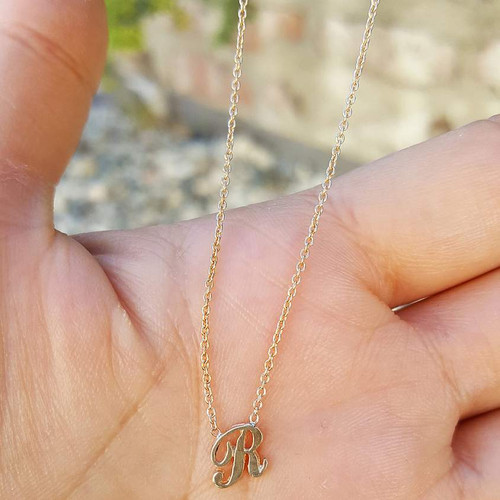 Alphabet Necklace in 14K Yellow Gold