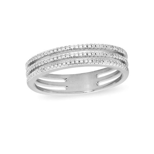 Anniversary Diamond Band 3-Row 14K White Gold