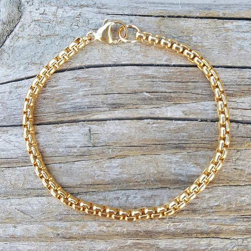 Round Box Bracelet Gold Filled