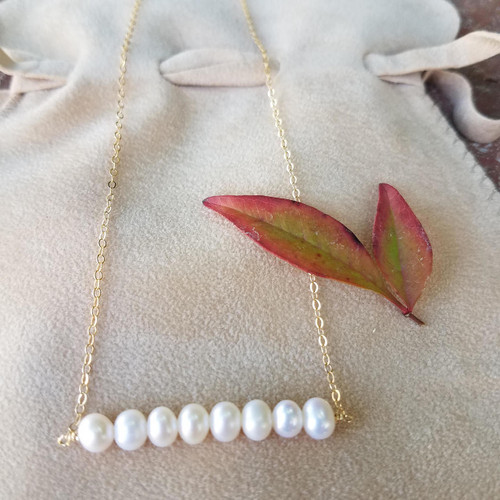 Freshwater Pearl Necklace Gold Filled