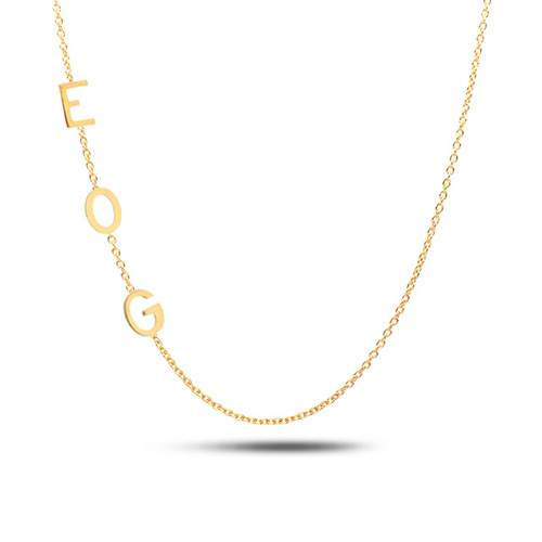 Initial Necklaces 14K Yellow Gold