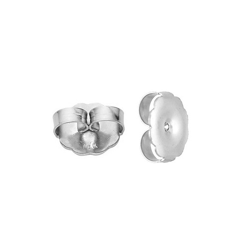 Jumbo Solid White Gold Large Safety Replacement Earring Backs