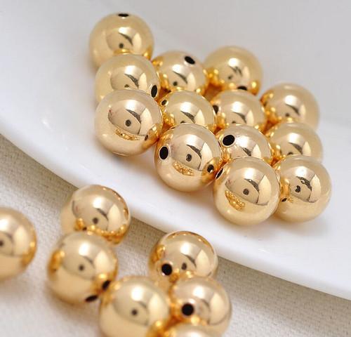 18 Karat Round Bead Gold Spacer