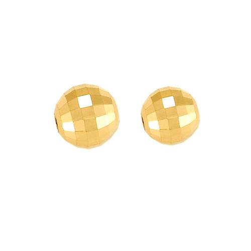 14K yellow gold mirror beads / diamond cut beads