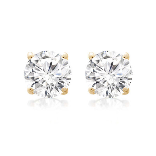 Diamond Stud Earring 14K Yellow Gold