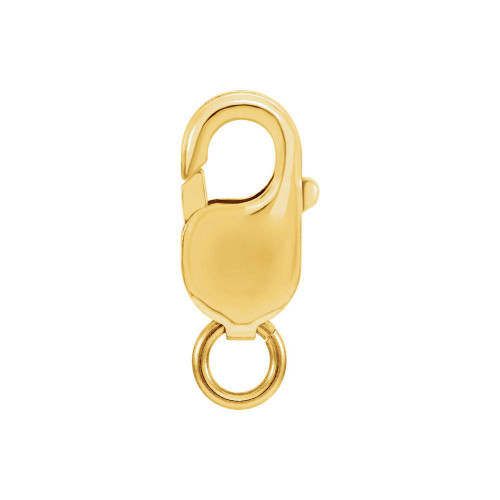 18 karat yellow gold lobster clasp