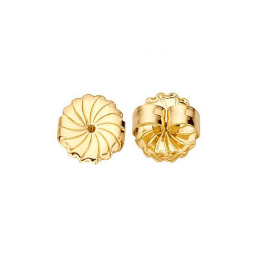 14K Solid Gold Large Safety Replacement Earring Backs