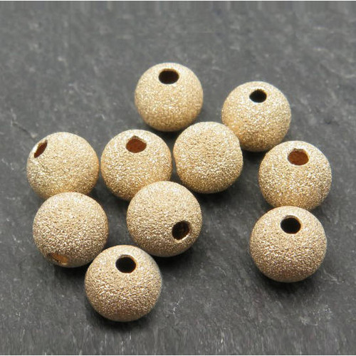 Gold Filled Ball Stardust Beads