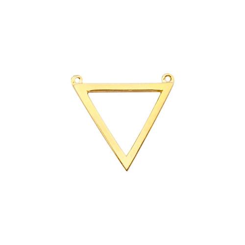 14K Yellow Gold Triangle Pendant