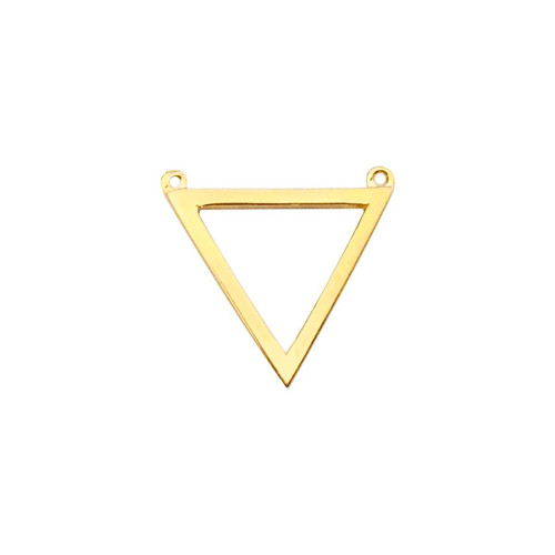14K Yellow Gold Triangle Pendant