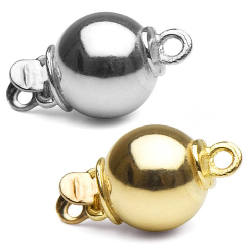 One lovely 14K ball clasp