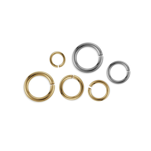14K Gold 18Ga (Thickness 1mm) Open Jump Ring