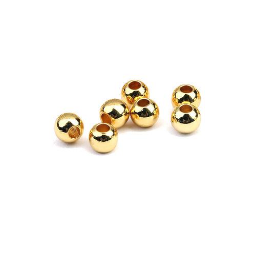 14K Yellow Gold Beads