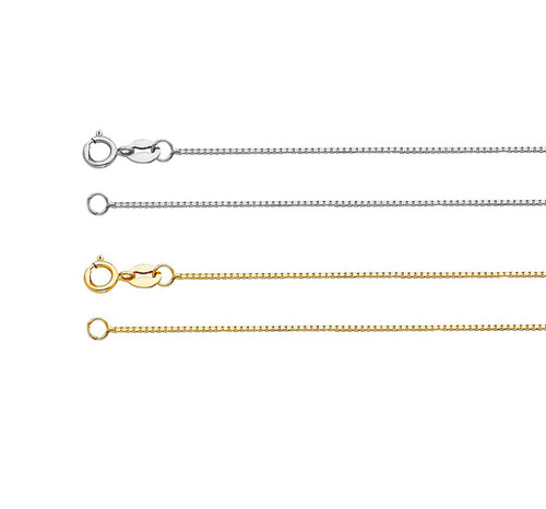 14K Gold Box Necklace Ready to Wear