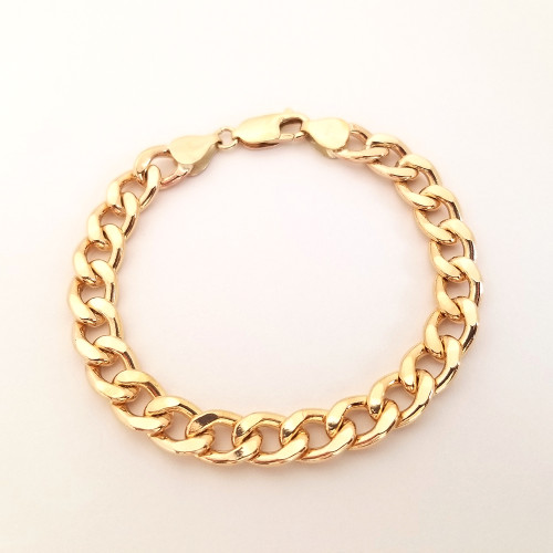 Gold Filled Heavy Curb Link Bracelet