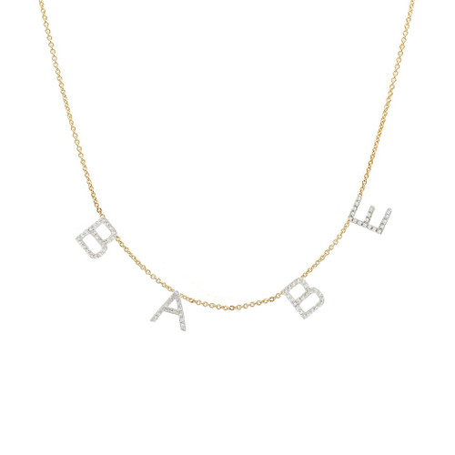Diamond Space Letter Necklace