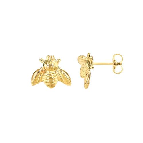Bee Stud Earring 14K Yellow Gold