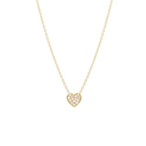 Diamond Heart Necklace 14K Yellow Gold