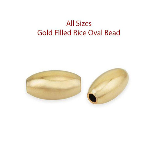 14K gold filled oval bead