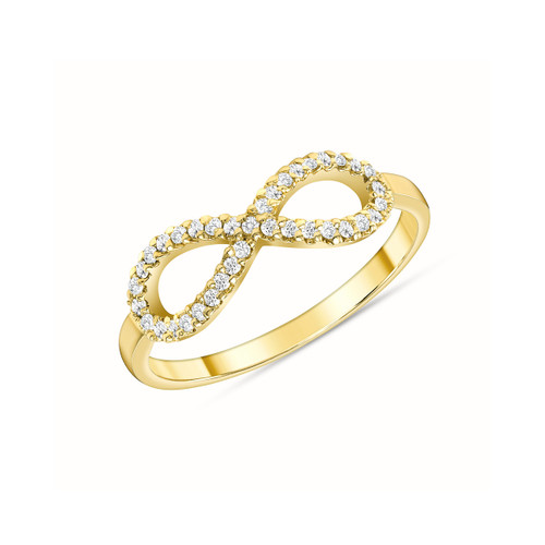 Diamond Infinity Ring 14K Yellow Gold
