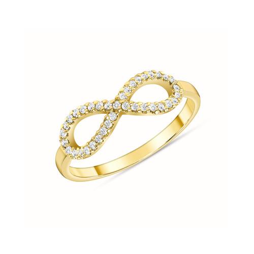 Diamond Infinity Ring 14K Yellow Gold