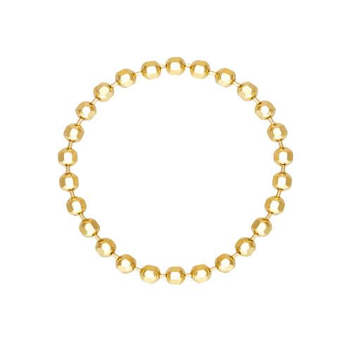 Diamond Cut Bead Chain Ring 14K Yellow Gold