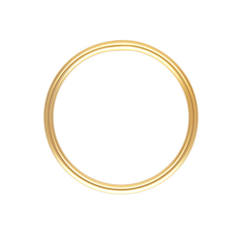 Plain Stacking Ring, Thin Wedding Band 14K Yellow Gold